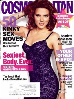 Cosmopolitan Magazine January 2012 Scarlett Johansson Cover, 50 Kinky Sex Moves (Comes with Bedside Astrologer)