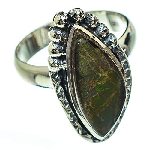 Ana Silver Co Ammolite Ring Size O 1/2 (925 Sterling Silver)