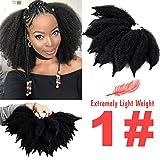 Silike 7' New Mali Bob Crochet Hair For Beauty (2 Bundles Per Pack) Afro Kinky Marlybob Crochet Braids Hair Extension (U1)
