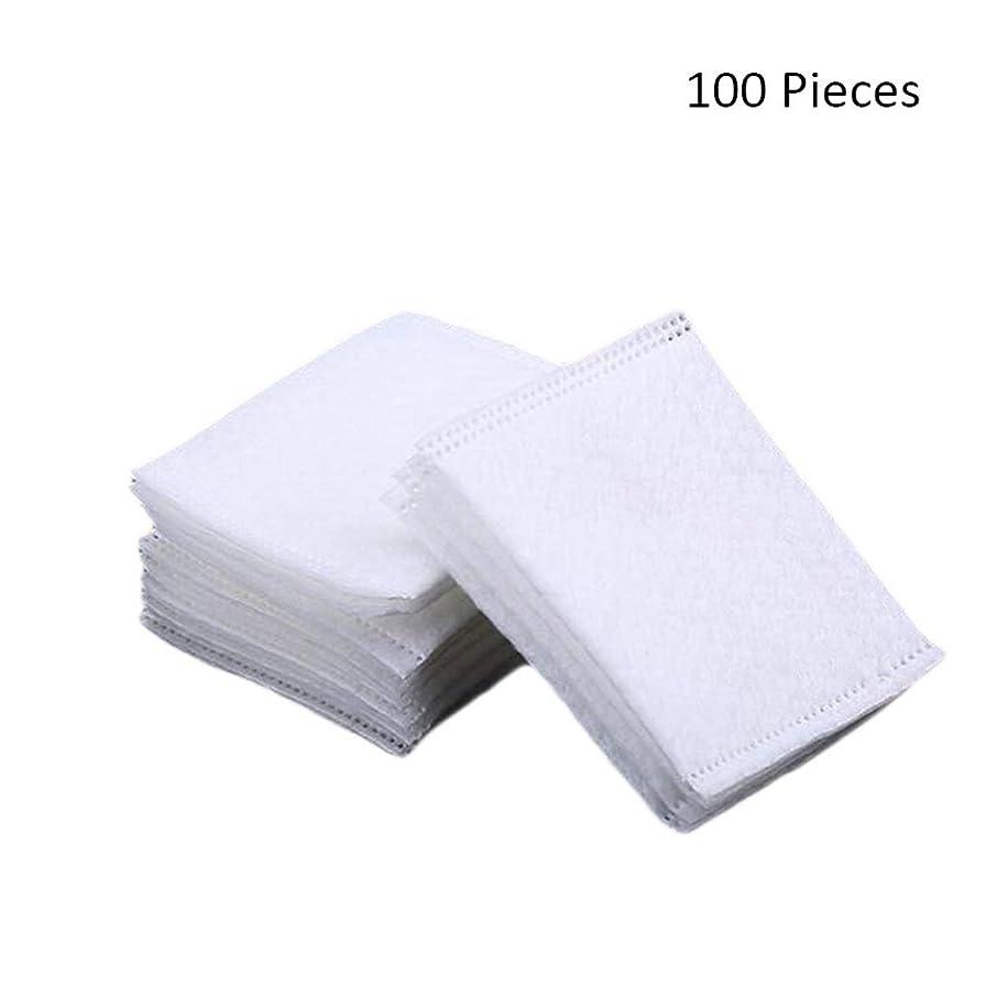 はがき生産性れんが50/100/220ピースダブルサイドフェイスメイクアップリムーバーコットンパッド密封旅行削除コットンパッドスキン化粧品メイクアップツール (Color : White, サイズ : 100 Pieces)