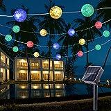 Guirnalda Luces Exterior Solares, BrizLabs 7M 50 LED Cadena de Luces Impermeable 8 Modos de Iluminación para Interiores y Exteriores Jardín, Navidad, Terraza, Patio, Fiestas (Multicolor)