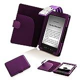Forefront Cases Amazon Kindle (4ª & 5ª generación - Modelo de 2012) Funda Carcasa Caso Case Cover con extraíble LED luz de lectura – Extra Acolchado y Protección Completa del Dispositivo (Morado)