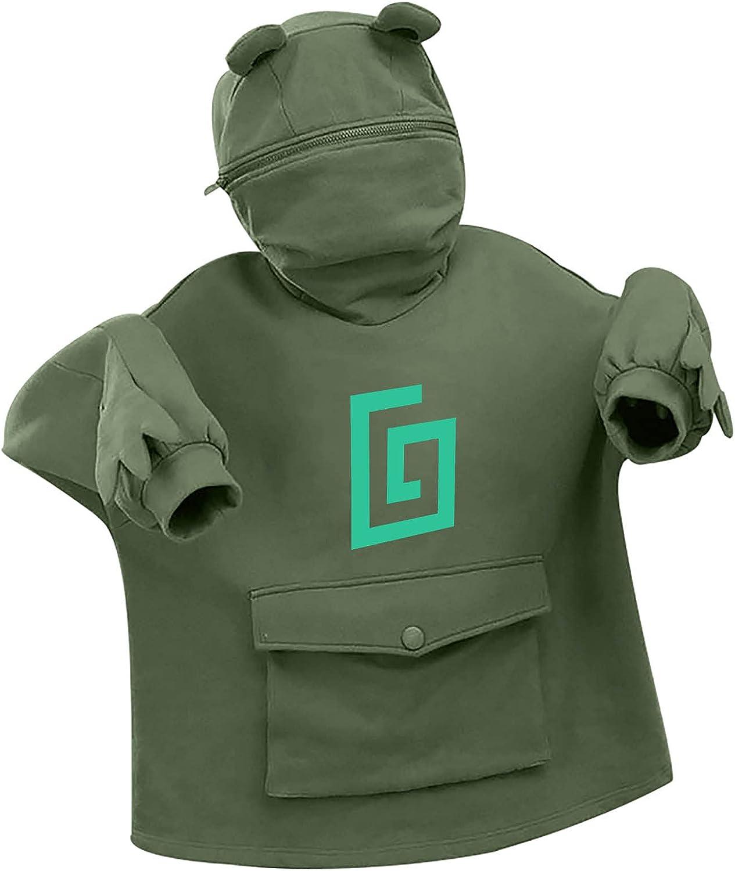 EELMOOR Karl Jacobs Frog Hoodie for Women's Girl's Cute Hooded Sweatshirt with Large Front Pocket