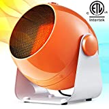 Bojing 1500W/900W Air Cooling Heating Fan Ceramic Portable Indoor Quiet Space Heater with Thermostat, Personal Electric Tilt Head Heater for Home and Office