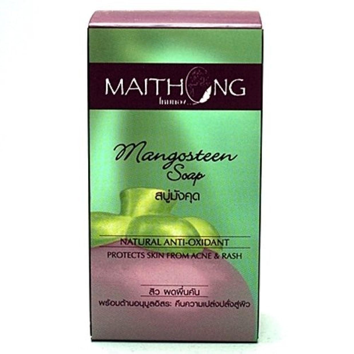 Mangosteen Soap Face and Body Wash Acne Rash Black Spot Spa Facial Soap Bar Natural Herb Scent by Maithong