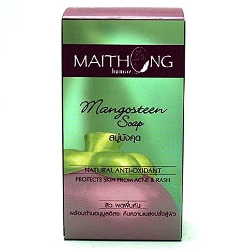 発生器できる抹消Mangosteen Soap Face and Body Wash Acne Rash Black Spot Spa Facial Soap Bar Natural Herb Scent by Maithong
