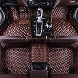Alfombras De Coche De Lujo De Cobertura Total, Aptas Para Jaguar XE 2015-2020 Alfombrillas De Pie De Cuero Personalizadas,Café