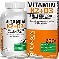 Vitamin K2 (MK7) with D3 Supplement Bone and Heart Health Non-GMO Formula 5000 IU Vitamin D3 & 90 mcg Vitamin K2 MK-7...