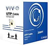 VIVO Gray 250ft Bulk Cat6, CCA Ethernet Cable, 23 AWG, UTP Pull Box, Cat-6 Wire, Indoor, Network Installations CABLE-V015