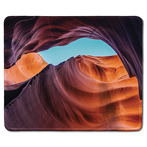 dealzEpic - Art Mousepad - Natural Rubber Mouse Pad Printed with Antelope Canyon Nature Landscape with Orange Rock Formation - Stitched Edges - 9.5x7.9 inches