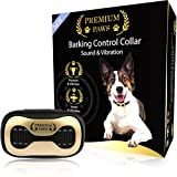 Premium Paws Advanced Intelligence Anti Barking Device Dog Collar - Sound & Vibration