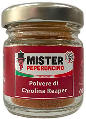 Carolina Reaper - Polvere di peperoncino (15Gr) - Il peperoncino più piccante del mondo - Mister Peperoncino