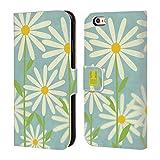 Fall + Ständer PU Leder Geldbörse mit Kreditkarte Slot Passend für Apple iPhone 6Plus/6S Plus/7Plus/8Plus Geldbörse/Clutch/Tasche mit Tablett Blaugrün Daisy