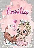 Emilia: Taccuino A5 | Nome personalizzato Emilia | Regalo di compleanno per moglie, figlia, sorella,...