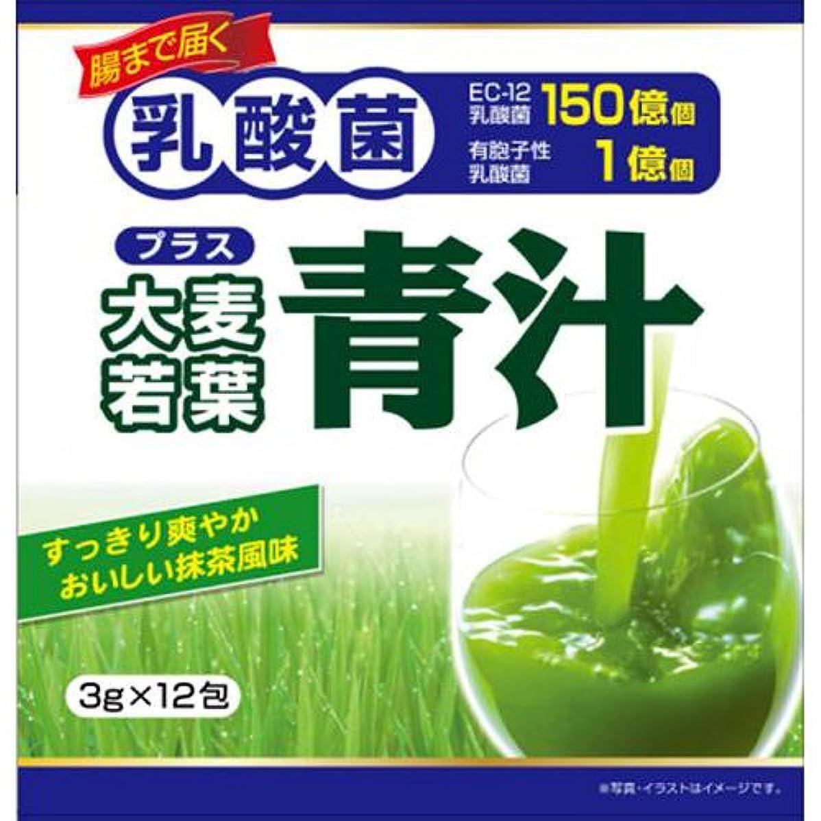 否認する暴力的な小麦ユーワ 乳酸菌プラス大麦若葉青汁 12包