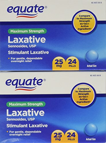 Equate Maximum Strength Laxative Pills, Sennosides 25 mg, 48 Pills