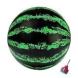 Wassergefüllter Wassermelonenball, Swimmingpool Spielball, Swimmingpool Spielball für Jugendliche Erwachsene unter Wasser Passen, Dribbeln, Tauchen, 9 Zoll Ball füllt sich mit Wasser (A)
