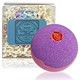Sex Bomb Giant XXLG 12 Ounce Fizzy Bath Bomb Featuring Rose Shaped Soap with Rose Honeysuckle Bouquet Fragrance