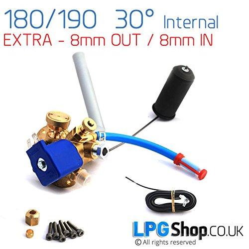 180 - 190 milímetro Extra 8 mm interno 30° Tomasetto multiválvula