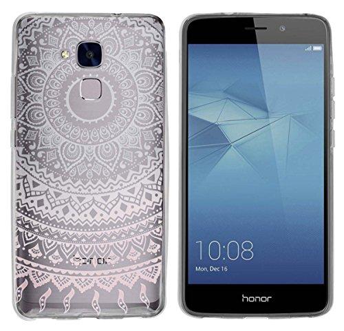 yayago Hülle für Huawei Honor 5C / Huawei GT3 Silikon Schutzhülle Hülle Hülle Backcover Tattoo Ornament Mandala Design transparent Tasche