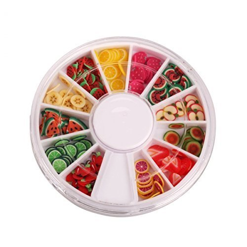 Asien Nail Strumenti 144pcs 3D FIMO fetta frutta fresca Viso Decoration