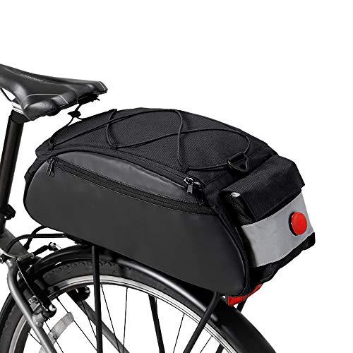 Lixada Vélo Rack Sac 10L Étanche Vélo Vélo Arrière Siège Cargo Bag Vélo Coffre Pack Épaule Sac de Transport avec Feu Arrière