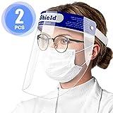 Pantalla Facial Protectora, 2 Viseras Protectoras Transparentes Ajustables de...