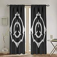 Scp (1) カーテン 幅132×丈183cm 2枚 1級 遮光カーテン おしゃれ 個性 デザイン かわいい 防寒 断熱 寝室 カーテン