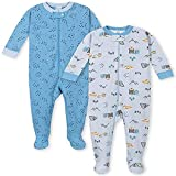 Gerber Pijama con pies para bebé niño (2 unidades) - gris - 12 meses
