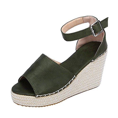 Sandalias de Vestir Plataforma Tacón Alto de Playa para Mujer, QinMM Casual Zapatos Verano Fiesta Chanclas