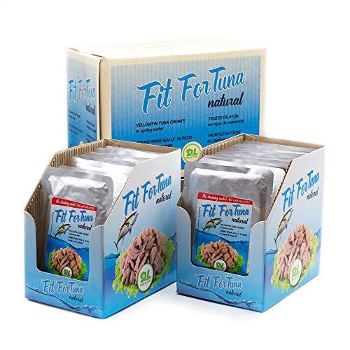 Tonno Pinna Gialla Naturale Dietetico Senza Olio In Acqua di Sorgente 24 Buste da 100 g Dimagrante