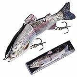 Bass Fishing Lures Albiscoo Lifelike Multi Jointed swimbaits kit Fishing Lure Soft Bait (ABS-YE-pb2)
