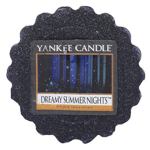 YANKEE CANDLE Verträumte Sommernacht (Dreamy Summer Night) Duftwachstörtchen zu Schmelzen, wachs, Schwarz, 5.9 x 5.7 x 2 cm