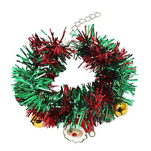 Viesky Pulsera de espumilln de Pap Noel Jingle Bell Charm Pulsera de regalo de joyera