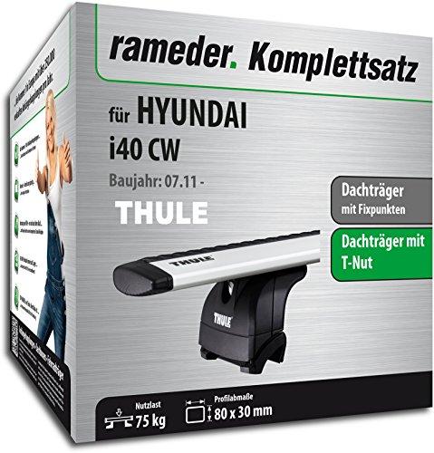 Rameder Komplettsatz, Dachträger WingBar EVO für Hyundai i40 CW (114644-09650-1)