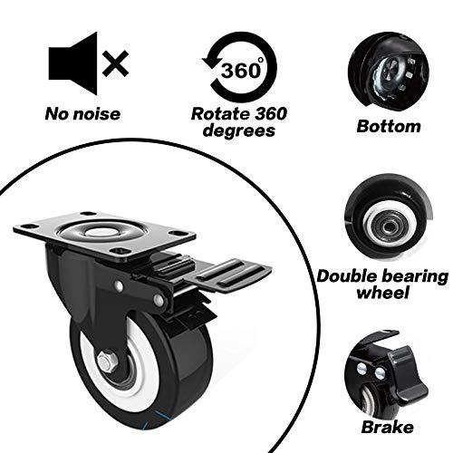 51AqW606M4L. SL500  - DOUYAO Ruedas para muebles,ruedas muebles,ruedas para palets,4 ruedas giratorias con función de frenado, ruedas de goma para muebles