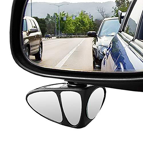 Blind Spot Car Mirror - 3 in 1 Glasses Convex Wide Angle Rear View 360 Degrees Rotatable Blindspot Side Eliminator Auxiliary Mirror for Cars SUV and Trucks(Left)