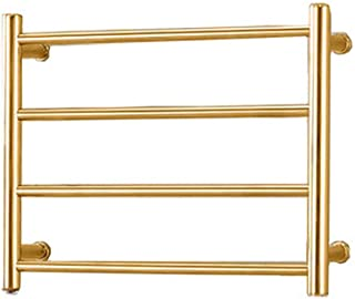 FOMT 304 Accesorios de baño de Acero Inoxidable Radiador de Toallas Electric Towel Rail Calefacción Gold Towel Racks Dry Warder,Gold