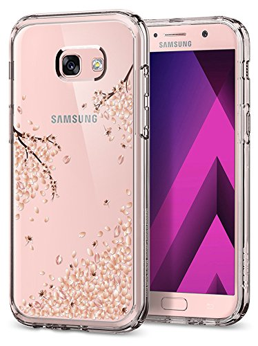 Spigen Crystal Shell Blossom Galaxy A5 2017 Case Clear Back Panel with Premium Flower Design for Samsung Galaxy A5 2017 - Clear Crystal