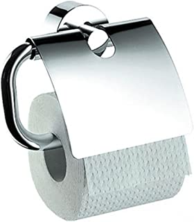 Axor Uno Wall Mounted Toilet Paper Holder with Cover Finish: Chrome