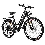 Vivi Bicicleta eléctrica - bicicleta eléctrica para adultos, bicicleta eléctrica de 250 W con batería de iones de litio de 36 V / 8 Ah, suspensión delantera, frenos de doble disco, bicicleta eléctrica