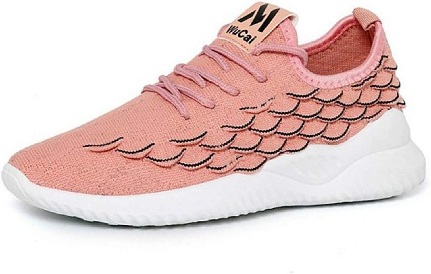 U-MAC Women's Sports Fashion Sneakers Chunky Platform Lace Up Breathable Light Tennis Running Athletics shoes