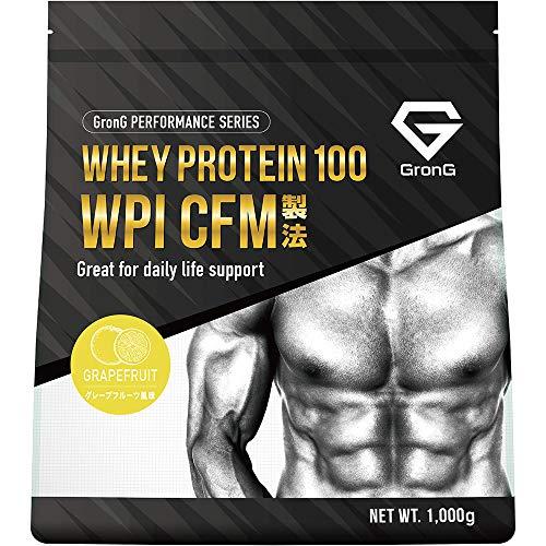 GronG(グロング) プロテイン ホエイプロテイン 100 WPI CFM製法 グレープフルーツ風味 1kg