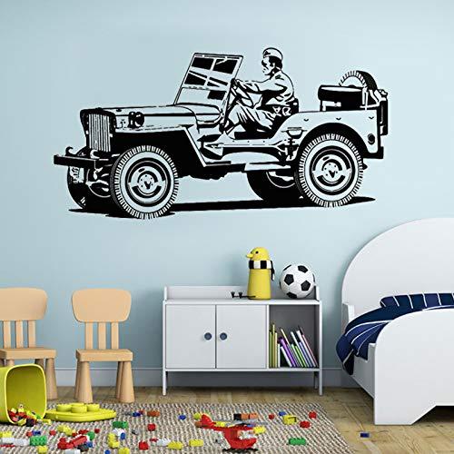 Tianpengyuanshuai Cartoon, militaire voertuig, wandsticker, familie, decoratie, woonkamer, vinyl, afneembaar, wanddecoratie voor kinderen