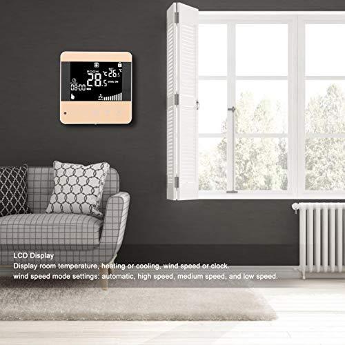 Termostatos, termostato Digital, Dormitorio con Pantalla LCD para la Sala de Estar del hogar de la Oficina(WiFi Models, Pink)