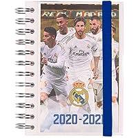 ERIK - Agenda escolar 2020/2021 día página S Real Madrid, 11 meses (11,4x16 cm)