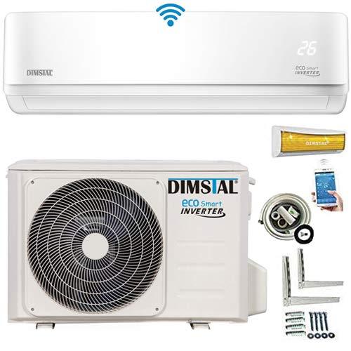 ECO Smart INVERTER 24000 BTU 7,0 kW Split Klimaanlage mit Wärmepumpe Klimagerät ECO Smart WiFi WLAN Komplett Set inkl. 3m Kupferleitungen mit Heizfunktion (7,0 kW)