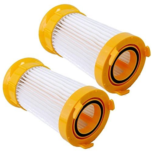 HQRP Filter 2-Pack Compatible with Eureka Lightspeed 100 300 4709AZ, PowerPlus 4704IDE Dust Cup Upright Vac Vacuum Cleaner Light-Speed Power-Plus Coaster
