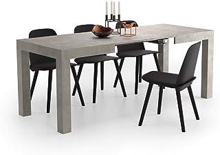 Mobili Fiver Mesa de Cocina Extensible Modelo First Color Cemento 120 x 80 x 76 cm Made in Italy