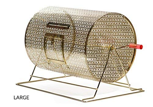 MR CHIPS Professional Lottery Spinning Drawing for Manual Bingo Cages - Brass Plated Casino Raffle Drums - Available in 5 Sizes - Large